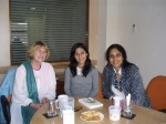 me with Shruti Debi and Meenakshi Bharat at Picador India office in Delhi, India.