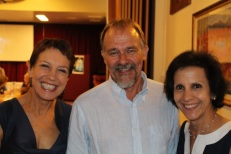 Jennifer Byrne, Peter Gale and Sister Theodore's niece, Helen Mahoney at the Brisbane launch.
